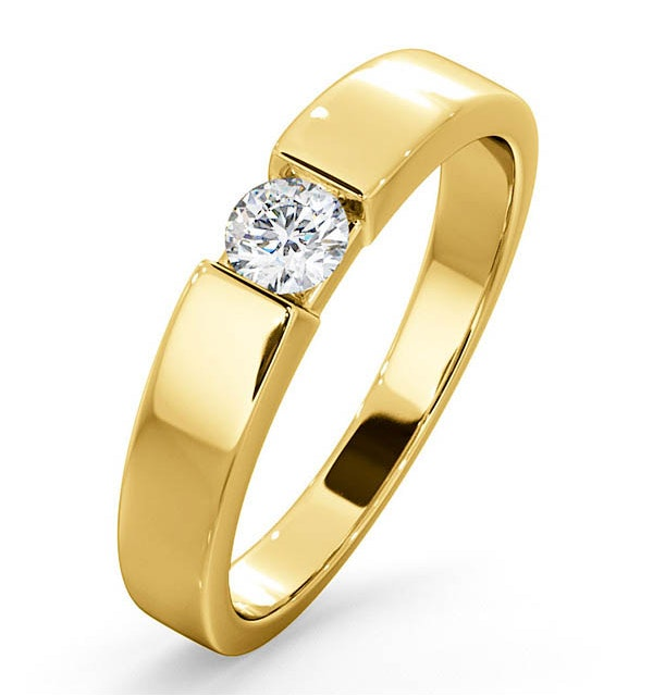 Certified Jessica 18K Gold Diamond Engagement Ring 0.25CT-F-G/VS - image 1