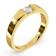 Certified Jessica 18K Gold Diamond Engagement Ring 0.25CT - image 2