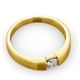 Certified Jessica 18K Gold Diamond Engagement Ring 0.25CT - image 4