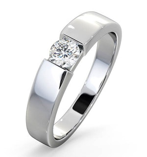 Certified Jessica 18K White Gold Diamond Engagement Ring 0.33CT-G-H/SI