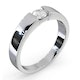 Certified Jessica 18K White Gold Diamond Engagement Ring 0.33CT-F-G/VS - image 2