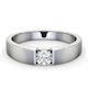 Certified Jessica 18K White Gold Diamond Engagement Ring 0.33CT-F-G/VS - image 3