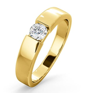 Certified Jessica 18K Gold Diamond Engagement Ring 0.33CT-F-G/VS