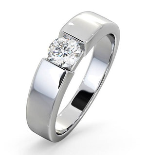 Certified Jessica 18K White Gold Diamond Engagement Ring 0.50CT