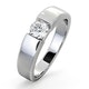 Certified Jessica 18K White Gold Diamond Engagement Ring 0.50CT - image 1