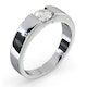 Certified Jessica 18K White Gold Diamond Engagement Ring 0.50CT - image 2