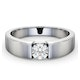 Certified Jessica 18K White Gold Diamond Engagement Ring 0.50CT - image 3