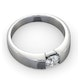 Certified Jessica 18K White Gold Diamond Engagement Ring 0.50CT - image 4