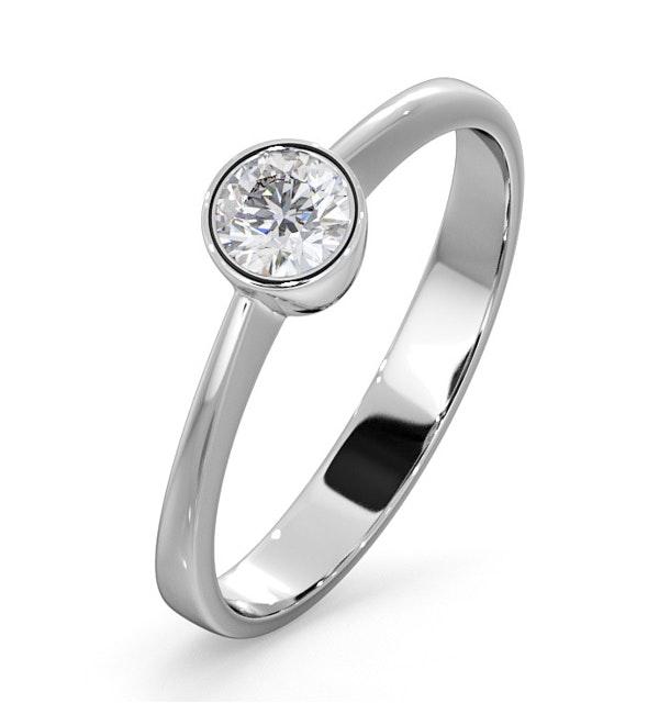 Diamond Engagement Ring - Emily Round 0.25CT G/VS - 18K White Gold - image 1