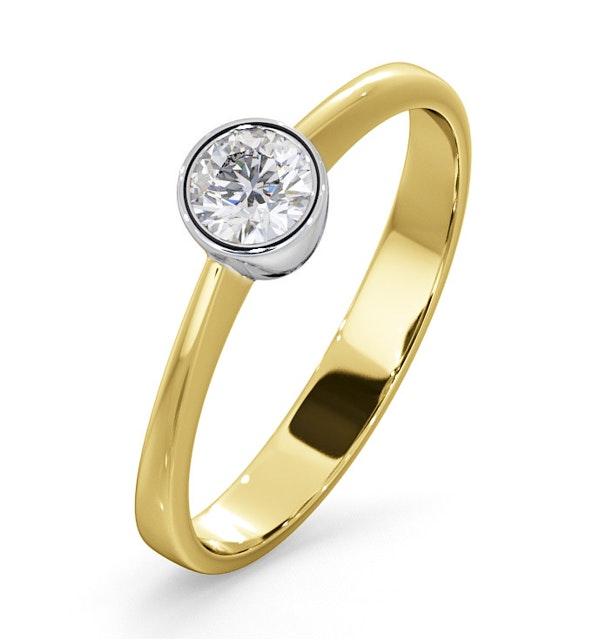 Diamond Engagement Ring - Round Emily 0.25CT 18K Gold - image 1