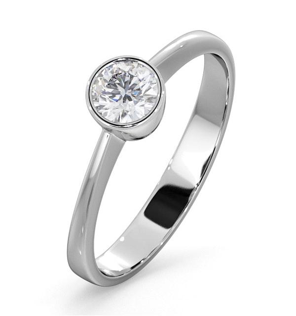 Diamond Engagement Ring - Emily Round 0.33CT G/VS - 18K White Gold - image 1