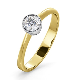 Diamond Engagement Ring - Emily Round 0.33CT G/VS - 18K Gold