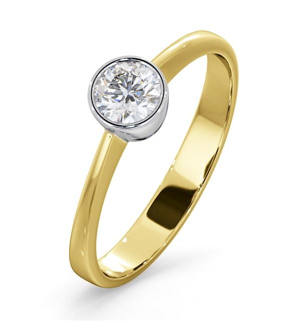 Diamond Engagement Ring - Emily Round 0.33CT G/VS - 18K Gold - image 1