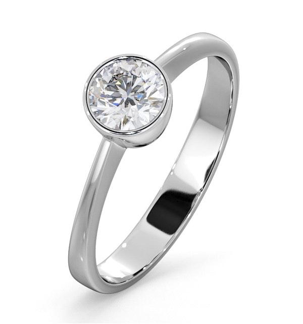 Diamond Engagement Ring - Round Emily 0.50CT 18K White Gold - image 1