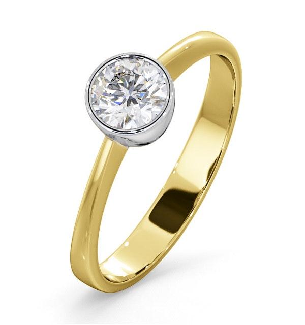 Diamond Engagement Ring - Round Emily 0.50CT 18K Gold - image 1