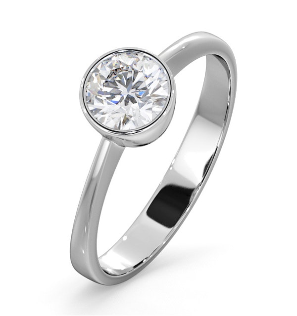 Emily Engagement Ring 0.75CT in 18K White Gold - image 1