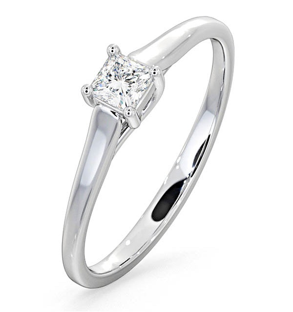 Certified Lucy Platinum Diamond Engagement Ring 0.25CT-G-H/SI - image 1