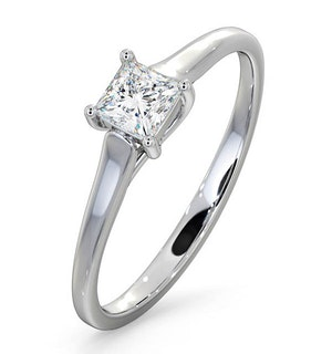 Certified Lucy 18K White Gold Diamond Engagement Ring 0.33CT-G-H/SI