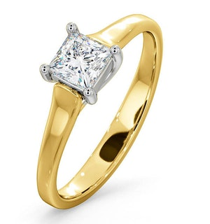 Certified Lucy 18K Gold Diamond Engagement Ring 0.50CT-F-G/VS
