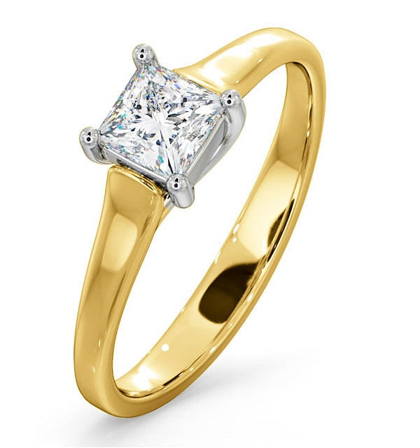 Certified Lucy 18K Gold Diamond Engagement Ring 0.50CT-G-H/SI - image 1