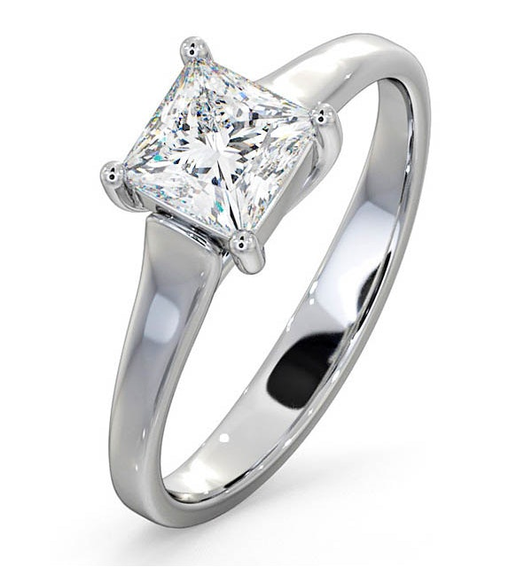 Engagement Ring Certified Lucy 18K White Gold Diamond 0.75CT-G-H/SI - image 1