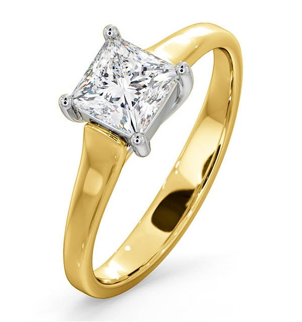 Certified Lucy 18K Gold Diamond Engagement Ring 0.75CT-G-H/SI - image 1