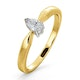Certified Pear Shaped 18K Gold Diamond Engagement Ring 0.25CT-G/Vs - image 1