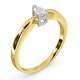 Certified Pear Shaped 18K Gold Diamond Engagement Ring 0.25CT-G/Vs - image 2