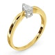 Certified Pear Shaped 18K Gold Diamond Engagement Ring 0.25CT-H/Si - image 2
