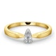 Certified Pear Shaped 18K Gold Diamond Engagement Ring 0.25CT-H/Si - image 3