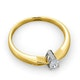 Certified Pear Shaped 18K Gold Diamond Engagement Ring 0.25CT-H/Si - image 4