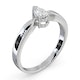Certified Pear Shaped Platinum Diamond Engagement Ring 0.33CT-G/Vs - image 2