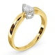 Certified Pear Shaped 18K Gold Diamond Engagement Ring 0.33CT-H/Si - image 2