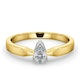 Certified Pear Shaped 18K Gold Diamond Engagement Ring 0.33CT-G/Vs - image 3
