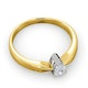 Certified Pear Shaped 18K Gold Diamond Engagement Ring 0.33CT-H/Si - image 4