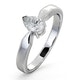 Certified Pear Shaped Platinum Diamond Engagement Ring 0.50CT-G/Vs - image 1