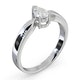 Certified Pear Shaped Platinum Diamond Engagement Ring 0.50CT-G/Vs - image 2
