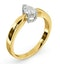 Certified Pear Shaped 18K Gold Diamond Engagement Ring 0.50CT-G/Vs - image 2
