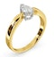 Certified Pear Shaped 18K Gold Diamond Engagement Ring 0.50CT-H/Si - image 2