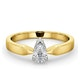 Certified Pear Shaped 18K Gold Diamond Engagement Ring 0.50CT-G/Vs - image 3