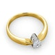 Certified Pear Shaped 18K Gold Diamond Engagement Ring 0.50CT-H/Si - image 4
