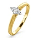 Certified Marquise 18K Gold Diamond Engagement Ring 0.25CT-F-G/VS - image 1