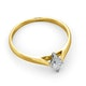 Certified Marquise 18K Gold Diamond Engagement Ring 0.25CT-F-G/VS - image 4