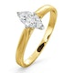 Certified Marquise 18K Gold Diamond Engagement Ring 0.50CT-G-H/SI - image 1