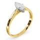 Certified Marquise 18K Gold Diamond Engagement Ring 0.50CT-G-H/SI - image 2