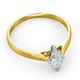 Certified Marquise 18K Gold Diamond Engagement Ring 0.50CT-G-H/SI - image 4