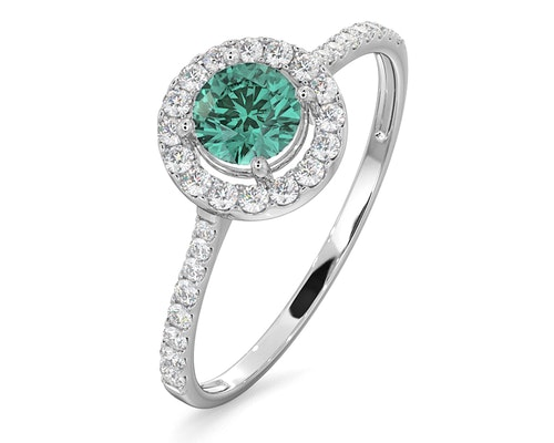 Emerald Halo Rings