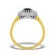 Sapphire 7 x 5mm And Diamond 18K Gold Ring  FET35-U - image 2