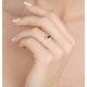 Sapphire 6 x 4mm And Diamond 18K Gold Ring  FET21-U - image 3