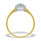 Emerald 3.5mm And Diamond 9K Gold Ring - image 2